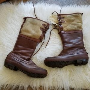 Ugg Brown & Tan Tall Winter Boots
